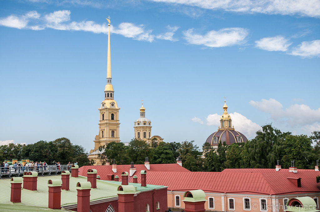 View of Saints Peter and Paul Cathedral from the Roofs of Peter