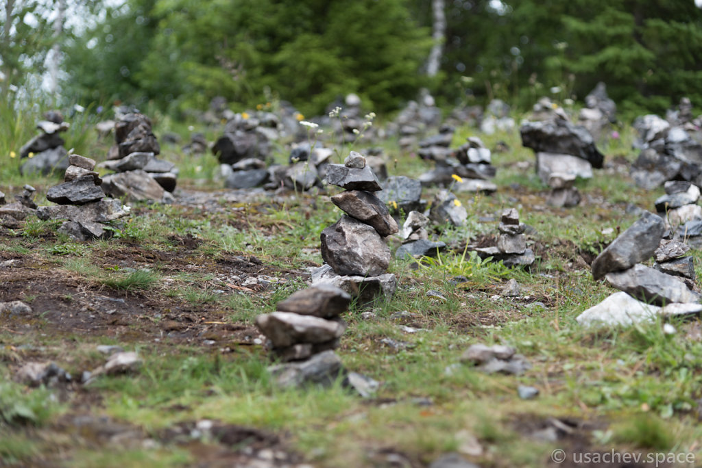 Cairns. A cairn is a man-made pile (or stack) of stones.